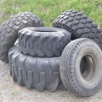 Assorted Earth mover and heavy truck tires