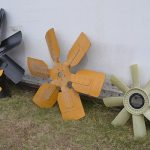 Assorted fan blades