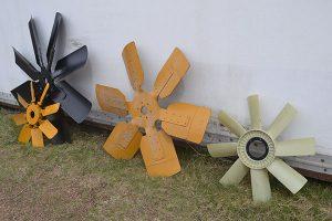Assorted fan blades
